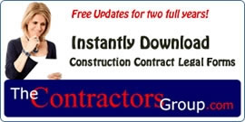 Display banner for Construction Contract Forms
